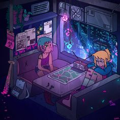"""sam-ey: """"I fell in love with post apocalyptic and cyberpunk scenarios, so… Here's Sam and Aiden during a zombie apocalypse! Apocalypse Aesthetic, Apocalypse Art, Apocalypse Survival, Cyberpunk Aesthetic, Cyberpunk City, Aesthetic Anime, Aesthetic Art, Arte 8 Bits, Apocalypse Character"""