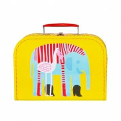 Marimekko suitcase in yellow with elephant and pelican Marimekko, Animal Bag, Elephant Love, Kids Room Design, All Things Cute, Nordic Design, Christmas Shopping, Christmas Gifts, Cloth Bags