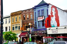 Adam's Morgan, one of DC's quirky neighborhoods, and the Madams Organ Blues & Soul Food Restaurant...