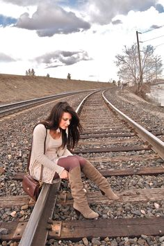 had the boy take some photos on the train tracks :)  danger=fun