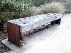 Rustic Railway Sleeper Bench