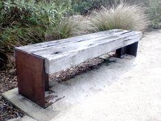 Rustic Railway Sleeper Bench
