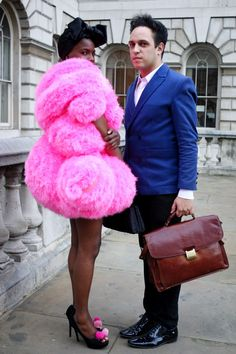 Shingai Shoniwa (in a dress by MaryMe-JimmyPaul) and Dan Smith of The Noisettes.