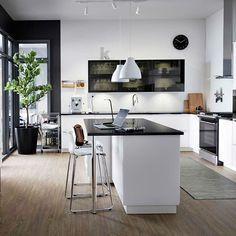 Planner Cucina 3d. Cucina Con Di Ante In Acciaio Legno E Bianco ...