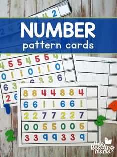 Number Pattern Cards - This Reading Mama Teaching Numbers, Numbers Preschool, Free Preschool, Preschool Themes, Math Numbers, Letters And Numbers, Number Patterns, Card Patterns, Free Printable Numbers