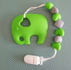 Hey, I found this really awesome Etsy listing at https://www.etsy.com/ca/listing/463851898/green-baby-elephant-teether-with-clip