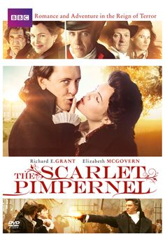 Amidst Robespierre's Reign of Terror, when the guillotine was always at the ready, the Scarlet Pimpernel (Richard E. Grant) defies the Revolutionaries to rescue the innocent. Yet the Pimpernel's wife, Lady Blakeney (Elizabeth McGovern), the wittiest an Best Period Dramas, Period Drama Movies, Movie To Watch List, Movie List, Love Movie, Movie Tv, The Scarlet Pimpernel, Bbc Drama, Cinema