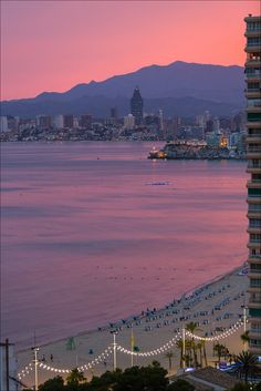 Sunset at Benidorm, Spain (by Adrien Sifre Photography )