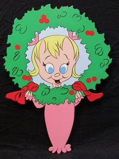 """LITTLE CINDY LOU Who......""""Holiday Wreath"""" Grinch Christmas Decorations, Grinch Christmas Party, Grinch Party, Christmas Yard Art, Christmas Wood, Holiday Wreaths, Christmas Crafts, Grinch 2, Holiday Decor"""