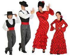 Grupo Cordobeses y Sevillanas Rojas #disfraces #carnaval #disfracesparagrupos