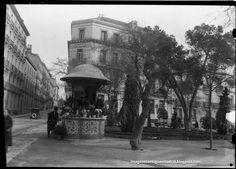 Quiosco en el Paseo de Recoletos Archivo Ruiz Vernacci F. P. H.