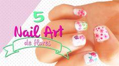 5 bonitos diseños florales para uñas super fáciles de hacer