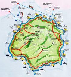 Thassos Island Map Greece Карта на Тасос