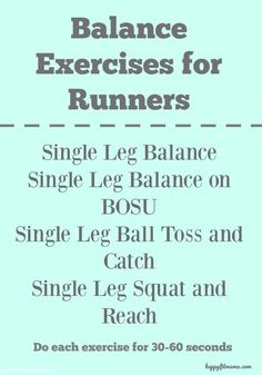 4 Balance Exercises for Runners - Happy Fit Mama