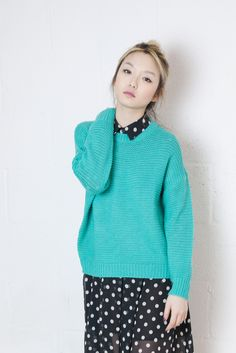 Mint Simple Knitted Jumper