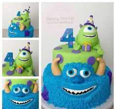 disney cake Milburn this is so cute! Monster Inc Party, Monster Birthday Parties, Birthday Fun, Birthday Ideas, Birthday Cakes, Monster University Cakes, Monster Inc Cakes, Crazy Cakes, Fancy Cakes