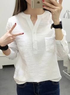 Latest fashion trends in women's Blouses. Shop online for fashionable ladies' Blouses at Floryday - your favourite high street store. Fashion 101, Curvy Fashion, Fashion Outfits, Fashion Trends, Latest Fashion, Womens Fashion, Fashion Styles, Fashion Boots, Blouse Styles