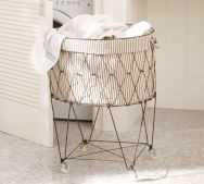 i love the wire laundry basket. french people are so cool