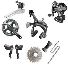 Shimano Ultegra 6700 Groupset - Grey | Groupsets - Road Bike | Merlin Cycles