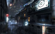 This is some of the most mind-blowing artwork of future cityscapes we've ever beheld. French artist Paul Chadeisson created these amazing images for the video game Remember Me, previously known as Adrift. It's a polluted, dirty, neon-soaked metropolis, full of corruption, hot latex outfits and flying vehicles. And we want to go there now.