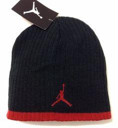 ef782b5012c New 20 AIR JORDAN JUMPMAN BEANIE Black Red Winter Knit Hat Men Women