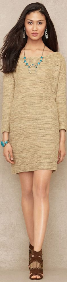 Ralph Lauren ● Blue Label Linen-Blend Sweater Dress