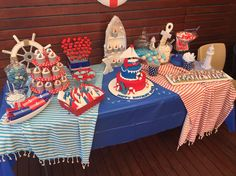 Nautical theme lolly buffet designed by me.