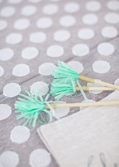 Fringe cocktail stirrer | photo by This Love of Ours | Design: Engaged & Inspired | 100 Layer Cake