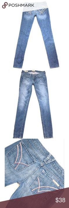 """WILLIAM RAST """"Jerri Ultra Skinny"""" SZ 27 Blue Jeans WILLIAM RAST """"Jerri Ultra Skinny"""" Juniors*SZ 27*Low Light Blue Jeans*Inseam 33"""" William Rast Jeans Skinny"""
