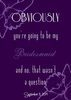 Will You Be My Bridesmaid Card! photoshop designed by ME!