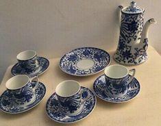 Noritake Birds Of Paradise Coffee Set Tea Service, Side Plates, Noritake, Coffee Set, Flower Basket, Cup And Saucer, Tea Cups, Paradise, Porcelain