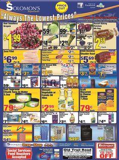 Solomon's Super Center Alway's The Lowest Prices !!