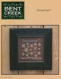 Schema punto croce Snowman 01
