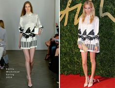 Poppy Delevingne In Emilia Wickstead - British Fashion Awards 2013 - Red Carpet Fashion Awards