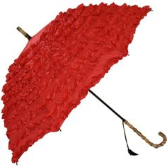 Fifi Frilly umbrella in red available in the UK from www.hellobrolly.co.uk