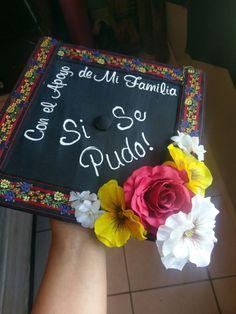Chicana graduation cap decoration