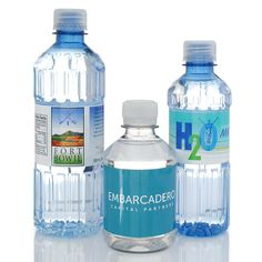 Trade Show hand outs! Custom bottled water in three sizes. Sold in cases of 24 bottles. Make yours online. Custom Water Bottles, Water Bottle Labels, Fiji Water Bottle, Pet Bottle, Design Packaging, Label Design, Web Design, Water Shoot, Bottled Water