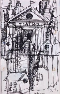 The temples of consumption: Aldo Rossi Architecture Tools, Architecture Drawings, Aldo Rossi, Postmodernism, Home Art, Images, Sketches, Temples, Masters