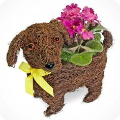 Pitter Patter Puppy Planter. Stunning dog lover decor. Visit our NYC store to see it for yourself. $35.