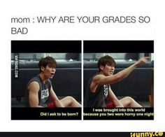 KPOP | my grades are bad?! Its you and ur husband's fault that im here