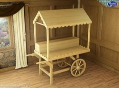 Dunster House Sophie Victorian Candy Cart Wooden Sweet Stall Wedding Christening Birthday Party Table - Ready to Paint