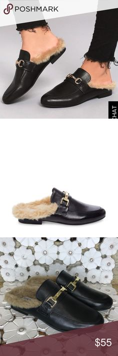 14327cee2b85f0 Steve Madden Slip on Fur loafer mules Steve Madden Khloe Fur slip on mules  retail  89 women s size 8 no box Fashion and function collide this season  to form ...