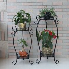 Wrought Iron Window Boxes, Wrought Iron Decor, Flower Cart, Flower Pots, Iron Furniture, Garden Furniture, Garden Plant Stand, Green Craft, Iron Plant