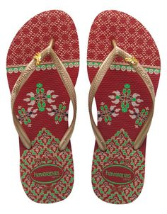 Slim Royal Sandals in Red by Havaianas