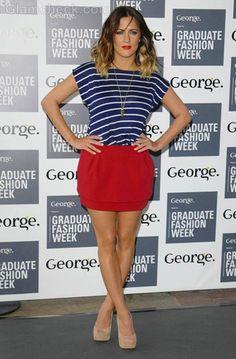 Caroline Flack nautical outfit
