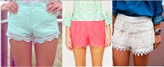 Do or Don't: Lace Shorts Miss Mel + Miss Heather