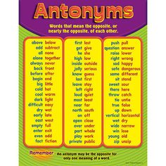 Worksheets Antonyms Words Examples 1000 images about synonyms and antonyms on pinterest vocabulary