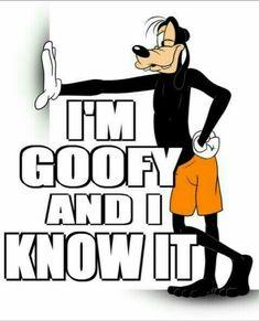 Ideas for funny disney shirts frozen Walt Disney, Goofy Disney, Disney Magic, Classic Cartoon Characters, Classic Cartoons, Disney Characters, Goofy Quotes, Disney Quotes, Goofy Pictures