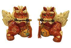 Satsuma Foo Dogs, Pair on OneKingsLane.com