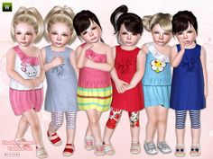 Finally summer toldder-set by lillka http://www.thesimsresource.com/artists/lillka/downloads/details/category/sims3-sets-clothing-female/title/finally-summer--toddler-set/id/1205281/  #sims3 #sims3outfits #lillka